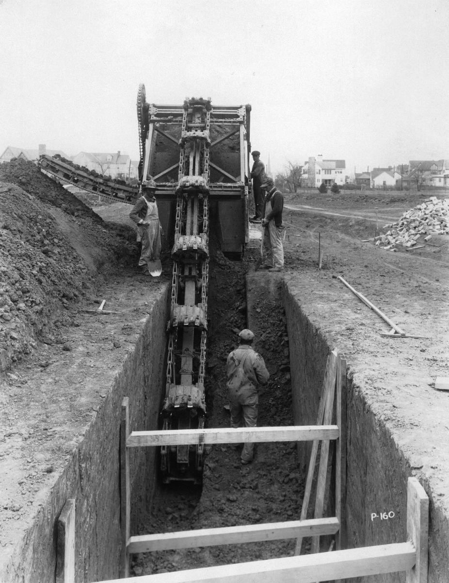 Construction trench