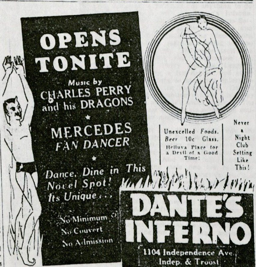 Dante's Inferno opening night advertisement