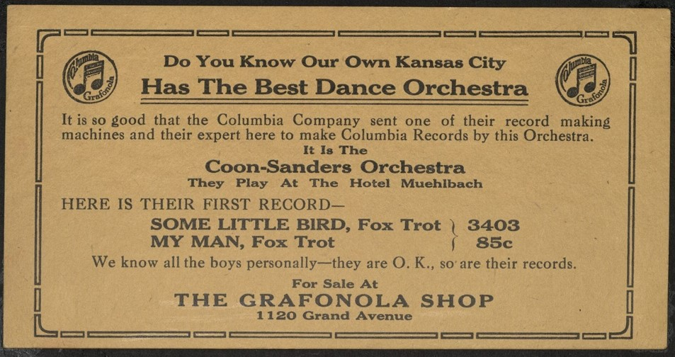 Ad for Some Little Bird at Grafonola Shop