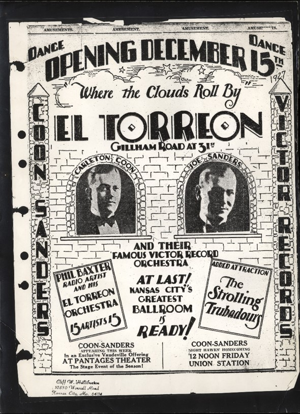 ​Advertisement for the opening of the El Torreon ballroom
