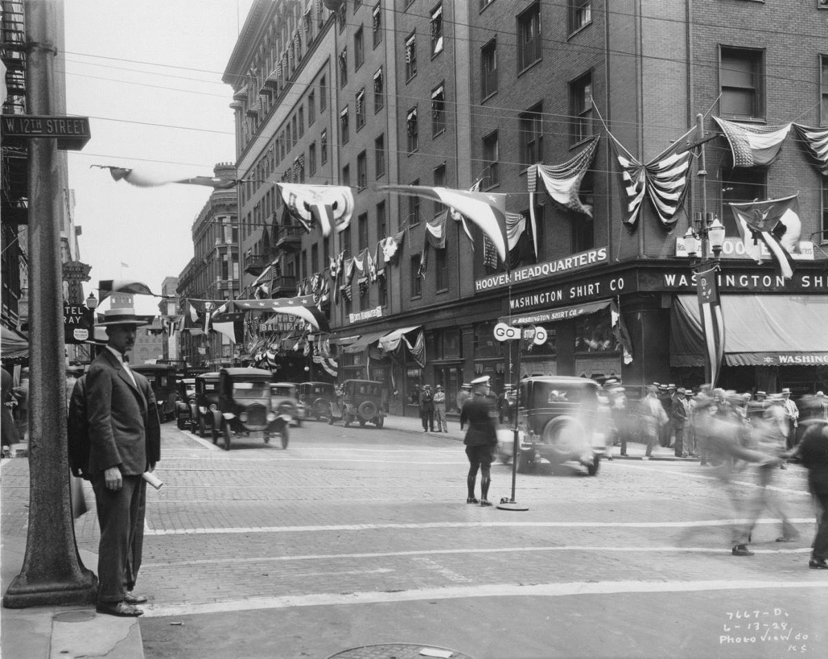 Baltimore Street during the convention