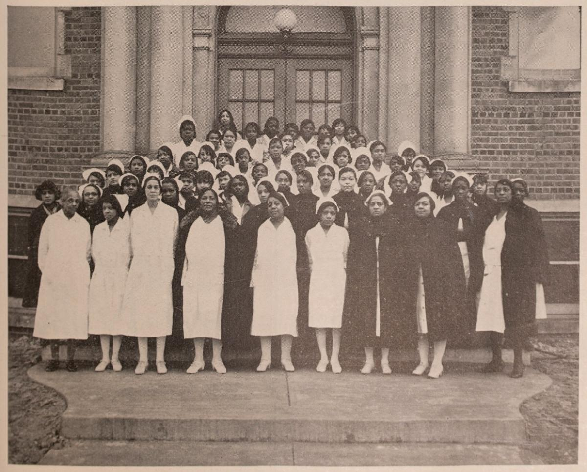 Supervisors and Nurses. Courtesy of the Missouri Valley Special Collections.