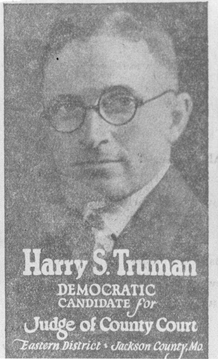 Truman advertisement for 1924 campaign