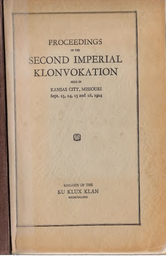 Cover page of the Proceedings from the 2nd Klonvokation