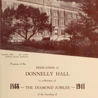 Program of the Dedication of Donnelly Hall in Celebration of the Diamond Jubilee of the Founding of St. Teresa's, 1866-1941