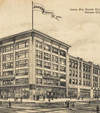 Postcard of the Jones Dry Goods Company