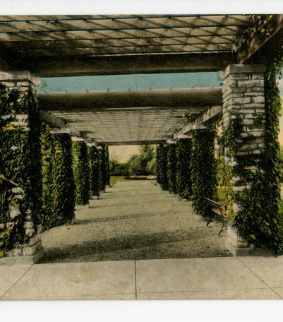 Postcard Bridge in Swope Park Kansas City Missouri unused