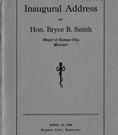 Inaugural Address of Hon. Bryce B. Smith