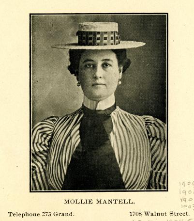 City Directory Portrait of Mollie Mantell