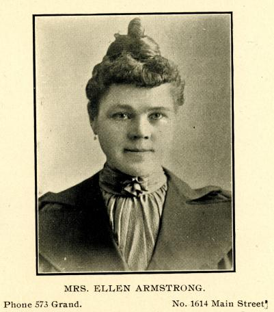 City Directory Portrait of Mrs. Ellen Armstrong