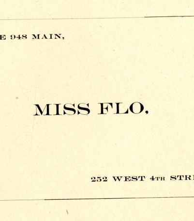City Directory Contact Information for Miss Flo.