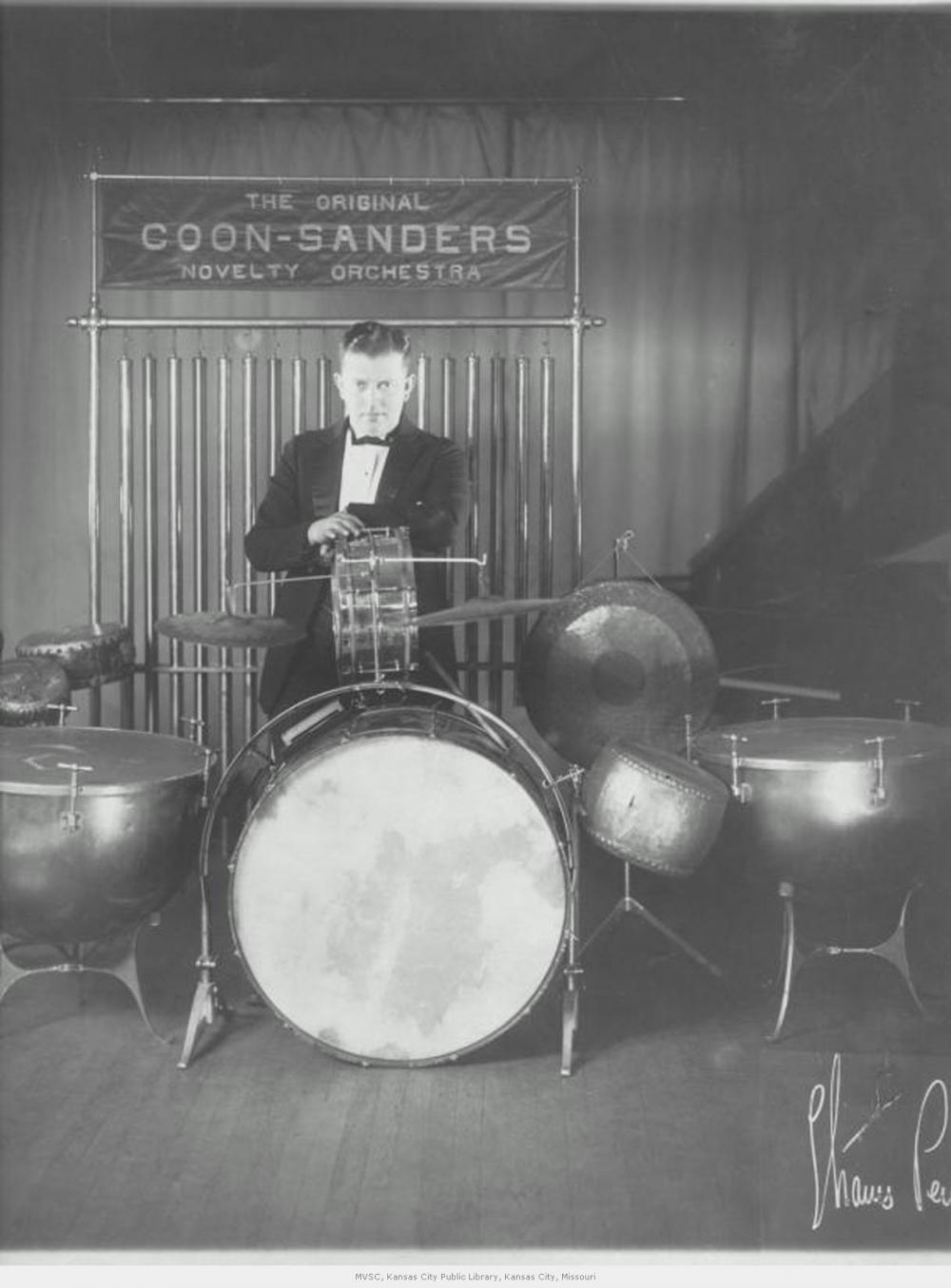 Carleton Coon at the Drum Set
