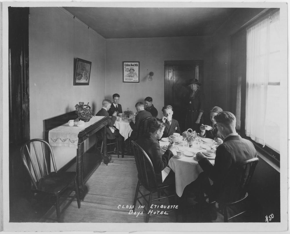 Class On Dining Etiquette At The Boys Hotel
