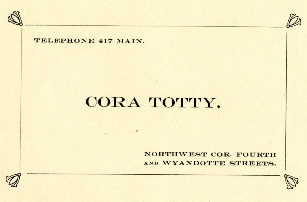 City Directory Contact Information for Cora Totty