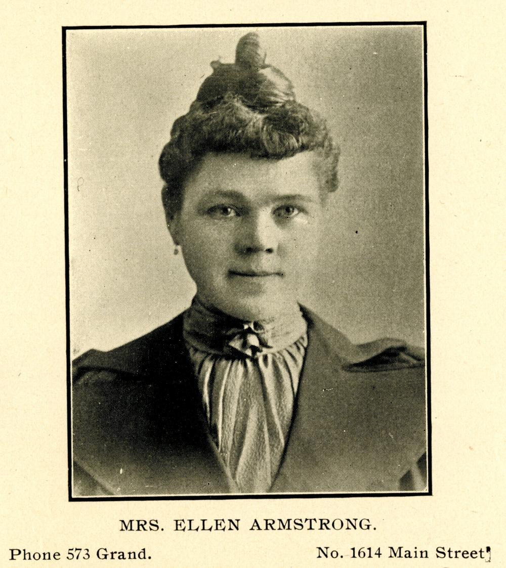 City Directory Portrait of Mrs. Ellen Armstrong