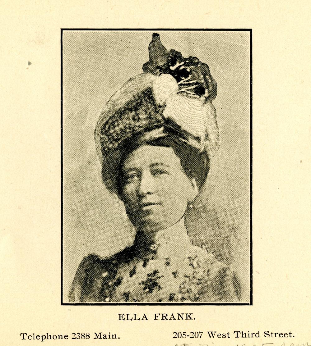 City Directory Portrait of Ella Frank