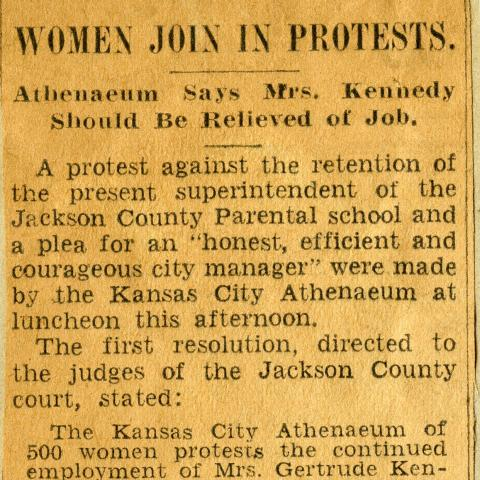 News Clip Women Join Protests
