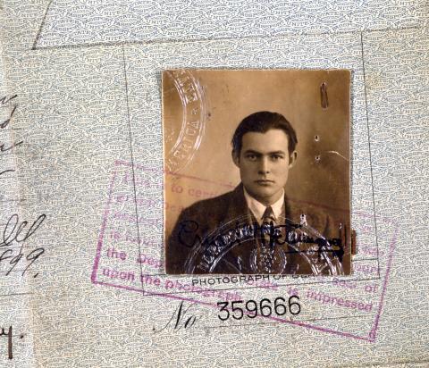 Ernest Hemingway's Passport Photo