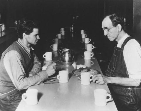 Patrons at the Helping Hand Institute, 1930s.
