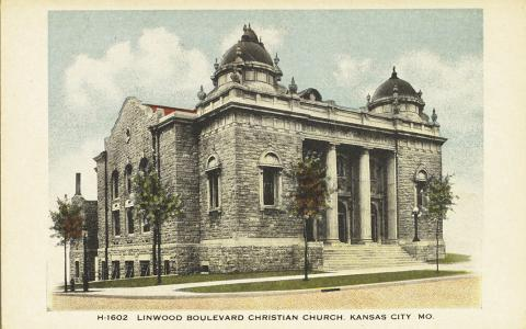 Postcard of the Linwood Boulevard Christian Church