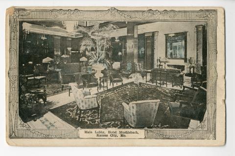 Main Lobby Hotel Muehlebach Kansas City Mo