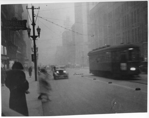 Grand Avenue During a Dust Storm
