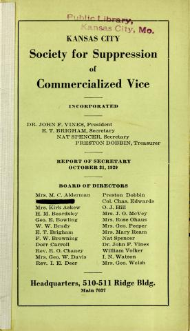 Society for Suppression of Commercialized Vice, Incorporated