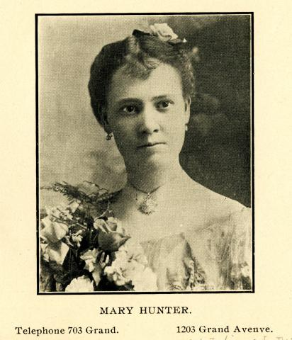 City Directory Portrait of Mary Hunter