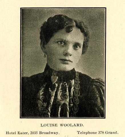 City Directory Portrait of Louise Woolard