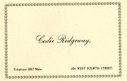 City Directory Contact Information for Codie Ridgeway