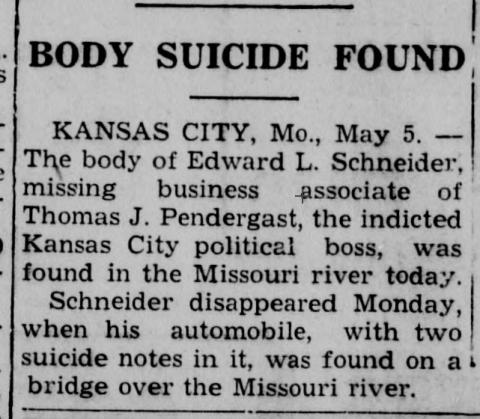 news story on Schneider's death
